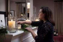 """Lighting is sometimes an overlooked party detail, but an easy one to get right. Use lots of candles. Nothing beats candlelight for a holiday party."" Kelly GriffIn, co-owner of Kate's Table."