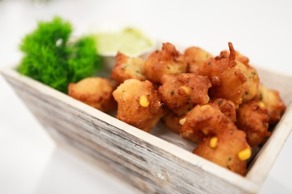 Lobster + Corn Fritters