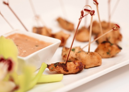 Chicken Satay + Thai Peanut-Coconut Sauce
